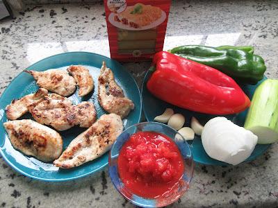 Canelones de pollo y verduras Thermomix