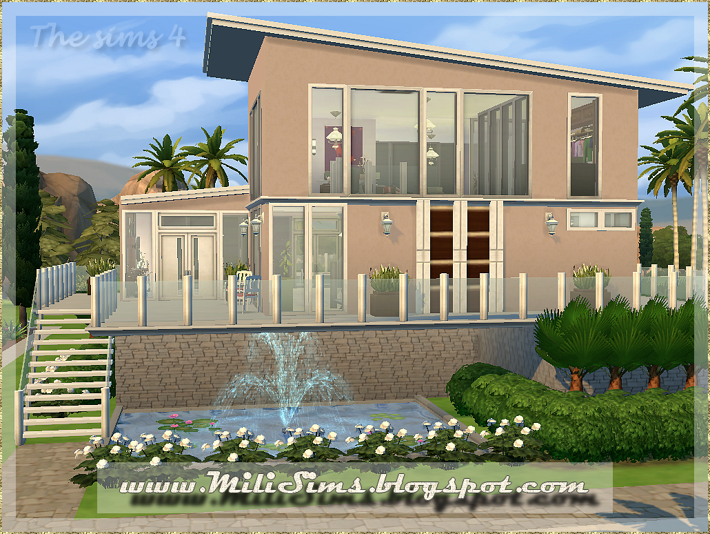Casa moderna 2 the sims 4 for 24x24 casa moderna