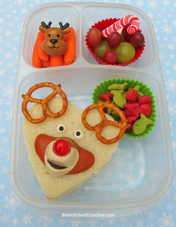 Rudolph the red nosed reindeer Christmas bento school lunches