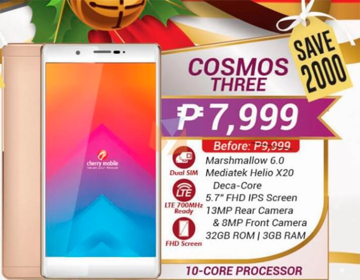 Sale Alert: Cherry Mobile Cosmos Three w/ 10-core processor is down to PHP 7,999!