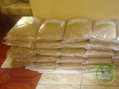 Sunariadi Mojokerto, Jatim  Pembeli Benih Padi TRISAKTI 75 HST Panen   sebanyak 50 Kg atau 20 Bungkus kemasan 2,5 Kg.