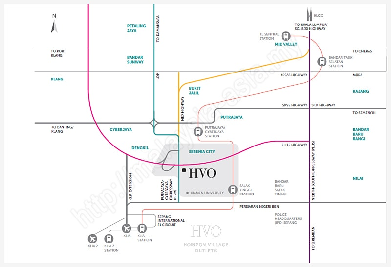 Directions to Horizon Village Outlets HVO