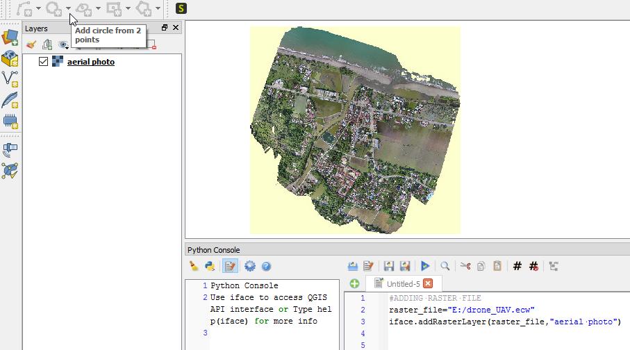 QGIS Python Tutorial: Adding Raster Layer