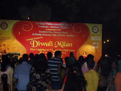 Diwali Milan - A show organised in the neighborhood