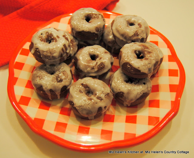 Baked Chocolate Mini Donuts at Miz Helen's Country Cottage