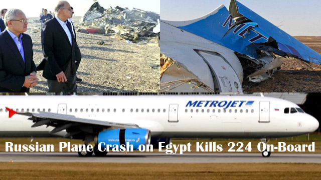UPDATED: Russian Plane Crash on Egypt Kills 224 On-Board