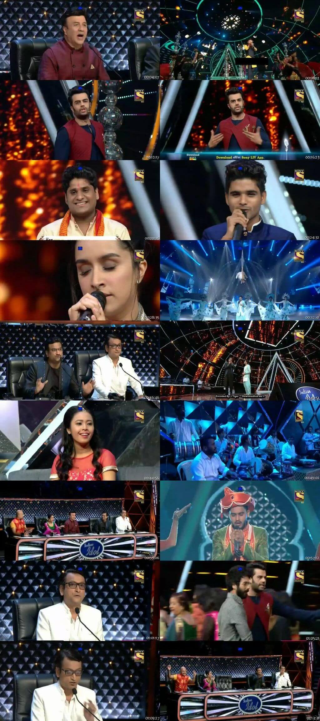 Screenshots Of Hindi Show Indian Idol 16th September 2018 Episode 22 300MB 480P HD
