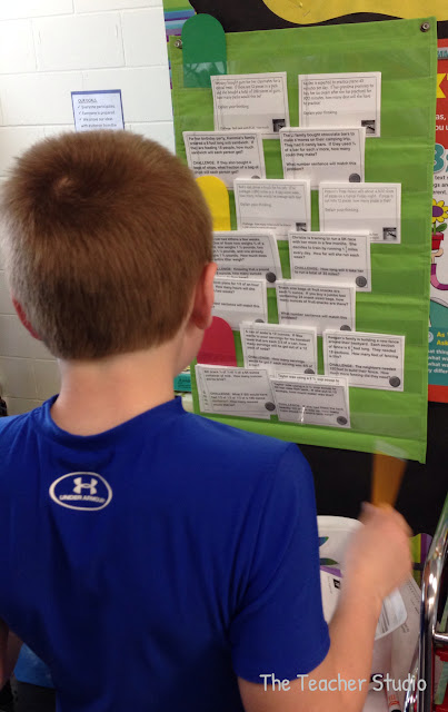 Students can self-select differentiated word problems