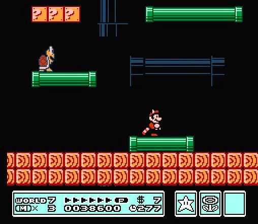 Pantalla Super Mario Bross 3 : Mundo 7