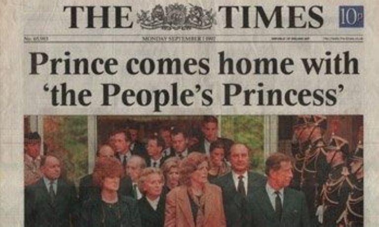biography of princess diana people's princess newspaper headlines