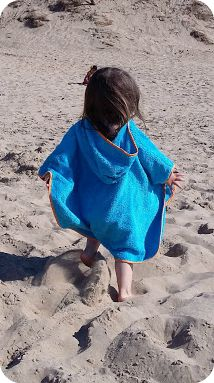 Cuddledry Swim Poncho Towel Blog Review At the Beach