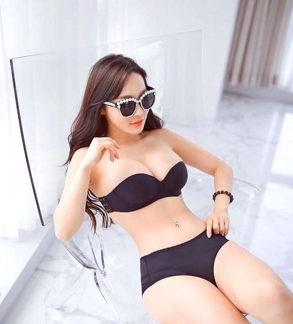 1 Lee Ji Na - lingerie collection - very cute asian girl-girlcute4u.blogspot.com