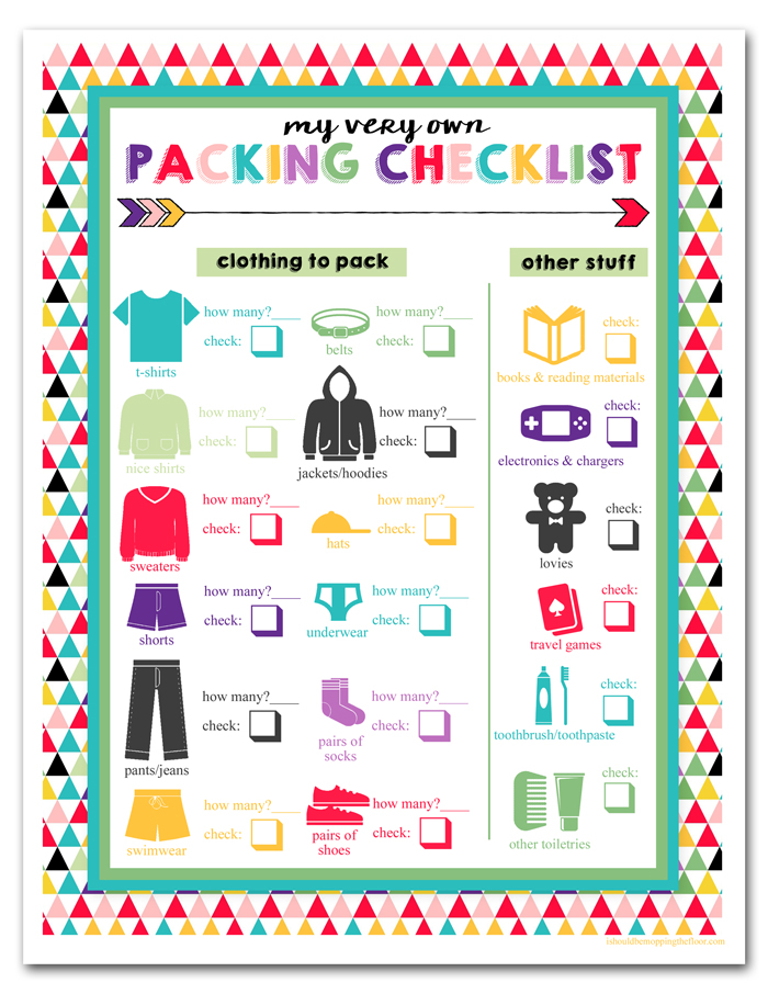 Kids Packing Printable