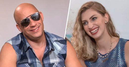 Vin Diesel no pudo terminar la entrevista por la reportera sexy
