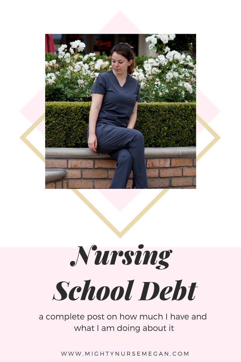 A complete post about how I am paying off my nursing school debt