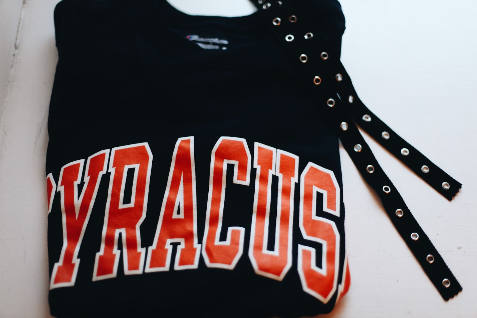 Diy Lace Up College Tee Shirt Style By Salli