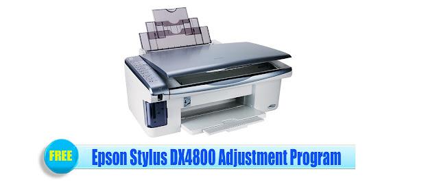 Epson Stylus DX4800 Adjustment Program