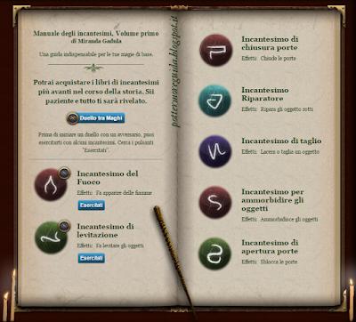 Manuale degli incantesimi, Volume primo al Club dei Duellanti