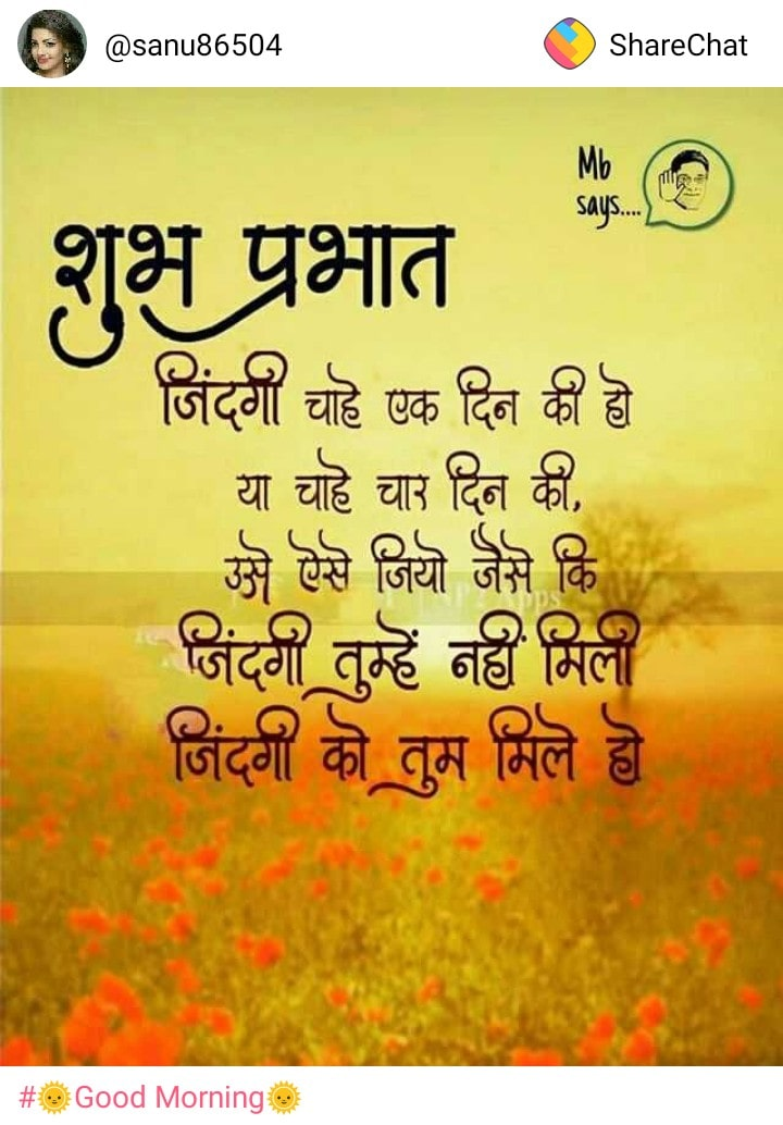 100 Best Good Morning Wishes In Hindi Images Photo Quotes