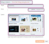 Blogger ile yeni blog açın