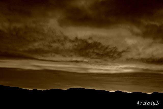 Cloudy Sepia Sunrise