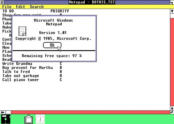 Windows 1.01 (1985)
