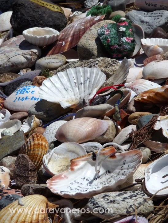 Foto de las Conchas de Peregrino en Finisterre | caravaneros.com
