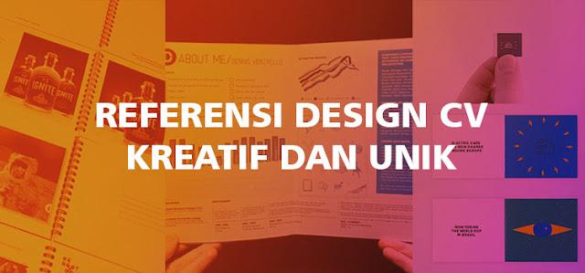 Referensi Design CV Kreatif dan Unik