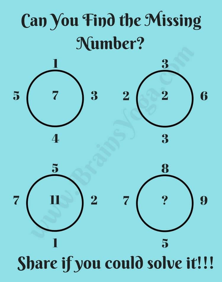 Missing Number Logic Maths Brain Teaser - Brain\'s Yoga