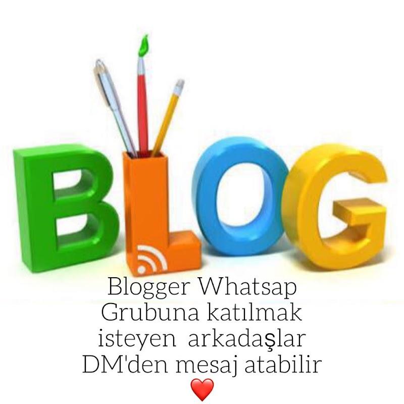 BLOGGER DESTEK GRUBUMUZDA YER ALMAK İSTER MİSİNİZ