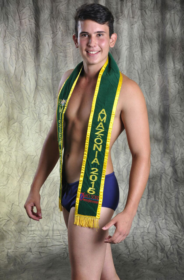Hathally Teles, o Mister Brazil Amazônia 2016. Foto: Roberto Silva