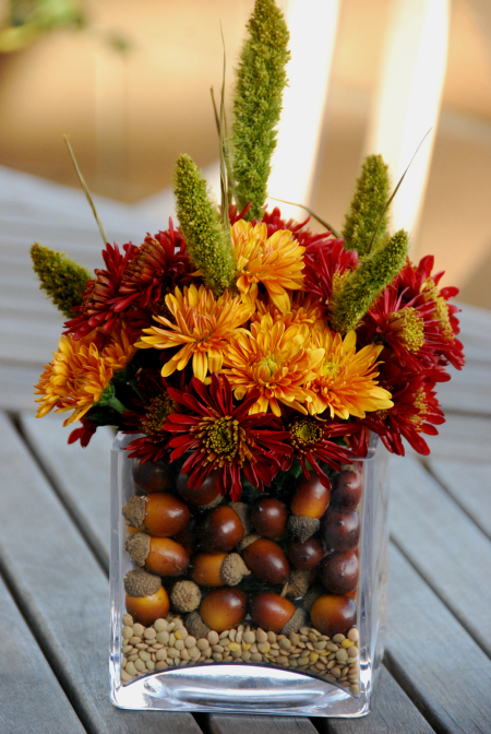 Fireflies and Jellybeans 10 Easy Fall Centerpiece Ideas