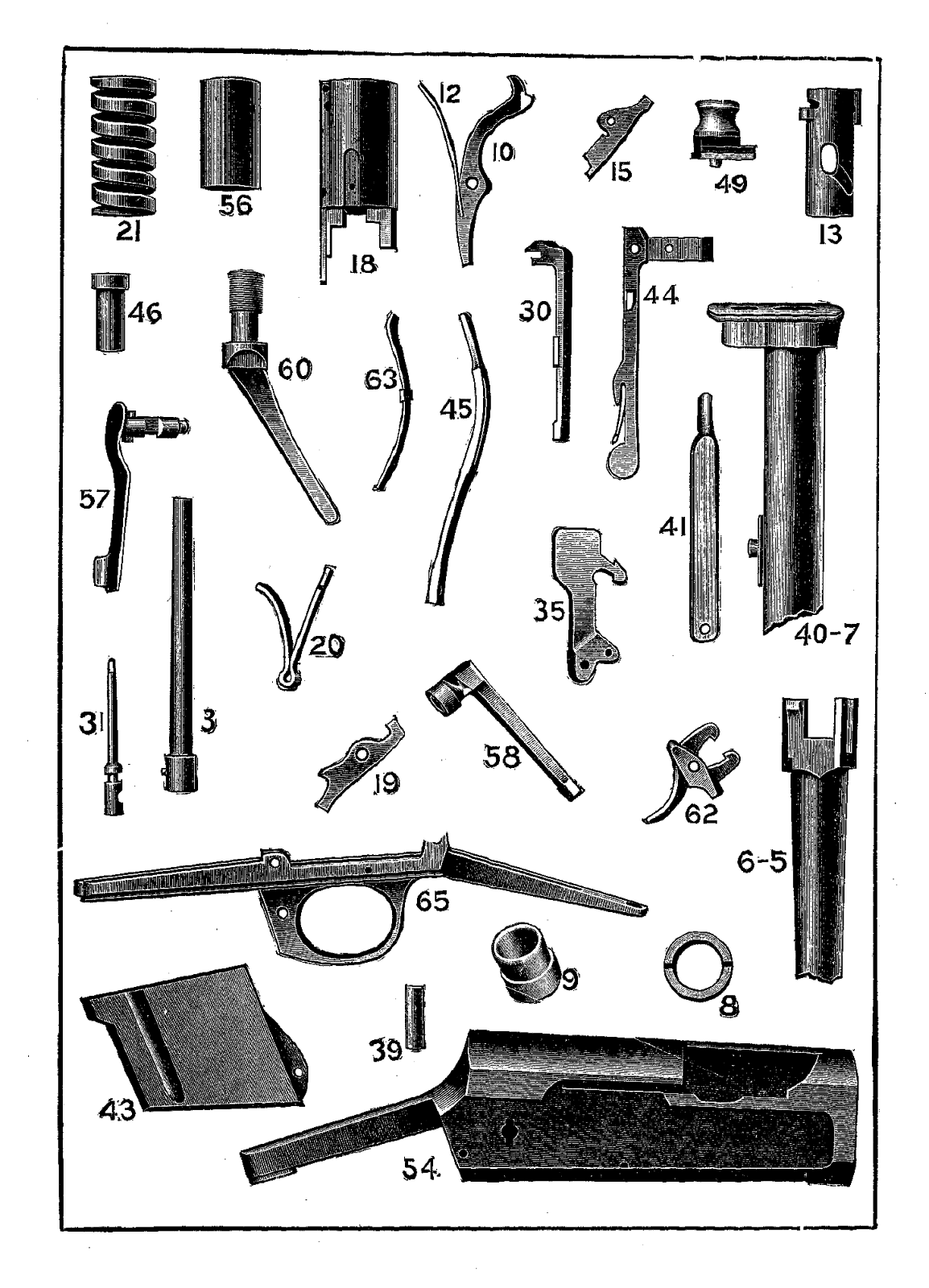 Digital Stamp Design Free Gun Parts Background Crafting