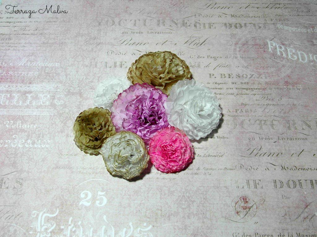 Tip Scrapbooking Flores De Papel De Seda Tissue Paper