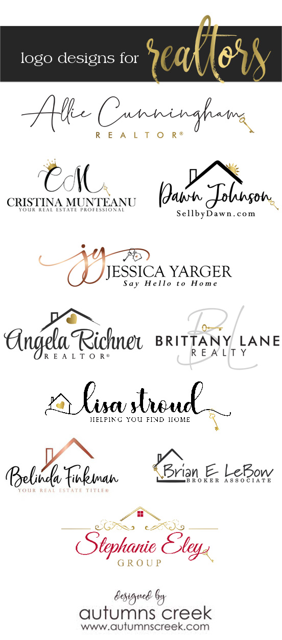 autumns creek designs  logos for real estate agents