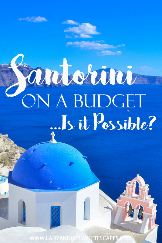 Santorini budget guide pinterest