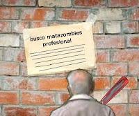 ilustración del relato corto Busco matazombies