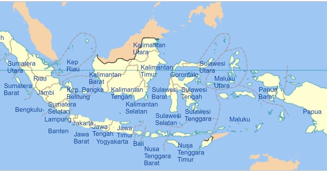 34 Provinsi Di Indonesia Lengkap Peta Wilayah Dan Ibukotanya Markijar Com