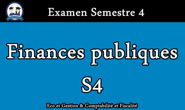 Examen Finances publiques