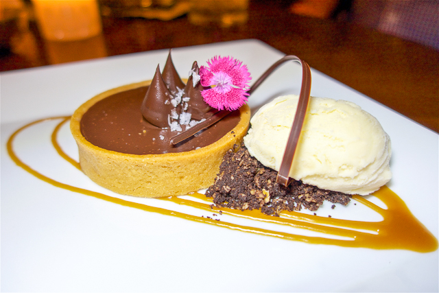 Salted Caramel Chocolate Tart at The Ritz Carlton Amelia Island, FL