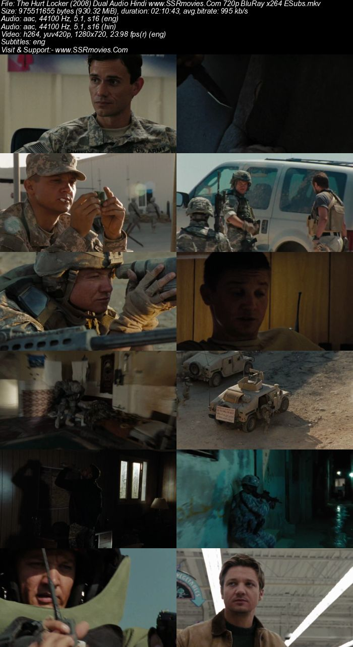 The Hurt Locker (2008) Dual Audio Hindi 480p BluRay x264 400MB ESubs Movie Download