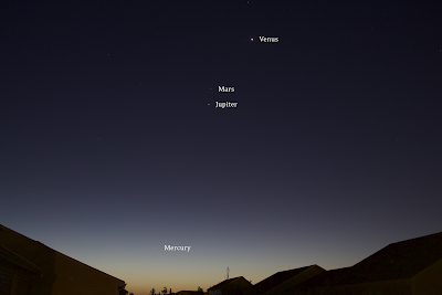 4 planets in one shot with labels