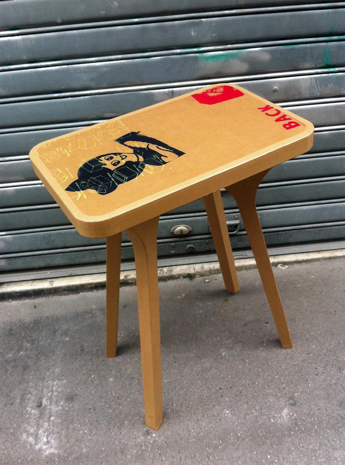 Juliadesign meuble en carton table basse for K meuble table