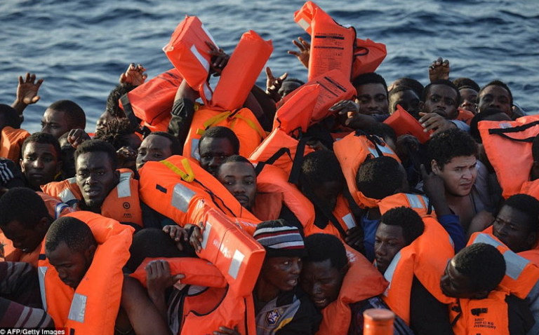128 african migrants drown sea europe