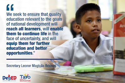 DepEd proposes 2018 budget for inclusive, nurturing learning environment