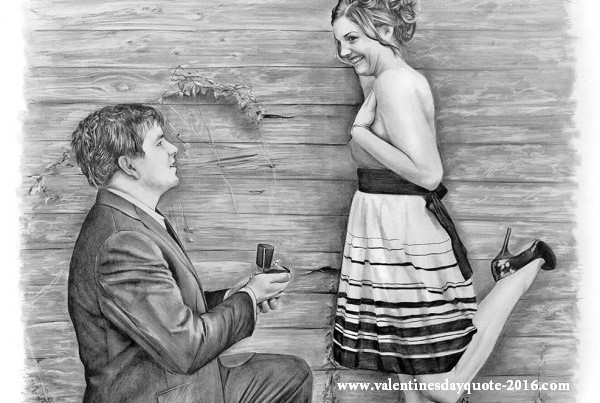 Boy purposed girl sketches