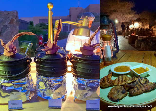 African-themed buffet in Sir Bani Yas