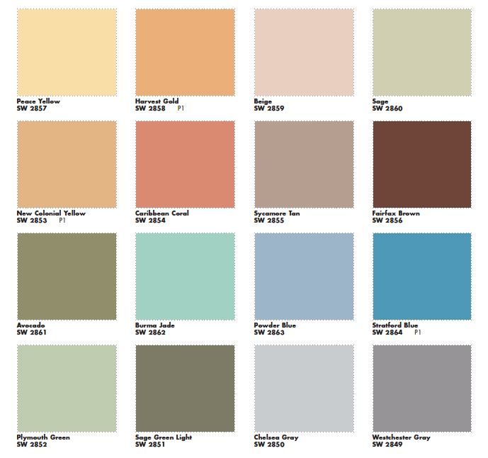 Mad for MidCentury Suburban MidCentury Paint Colors