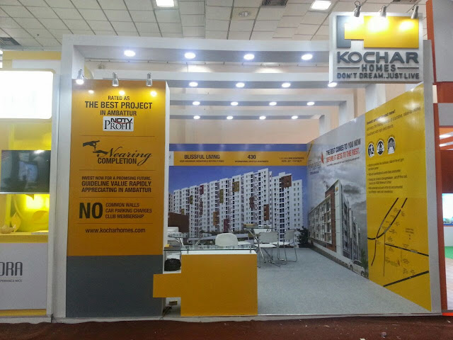 Real Estate Exhibition Stall : Stall design execution by brand care communications bcc marcom