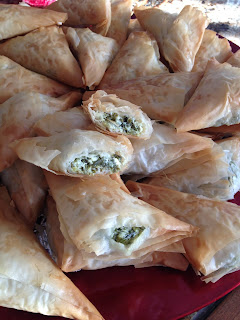 Spinach & Fillo Triangles or Spanakopita
